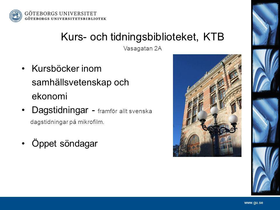 Kurs- och tidningsbiblioteket, KTB Vasagatan 2A
