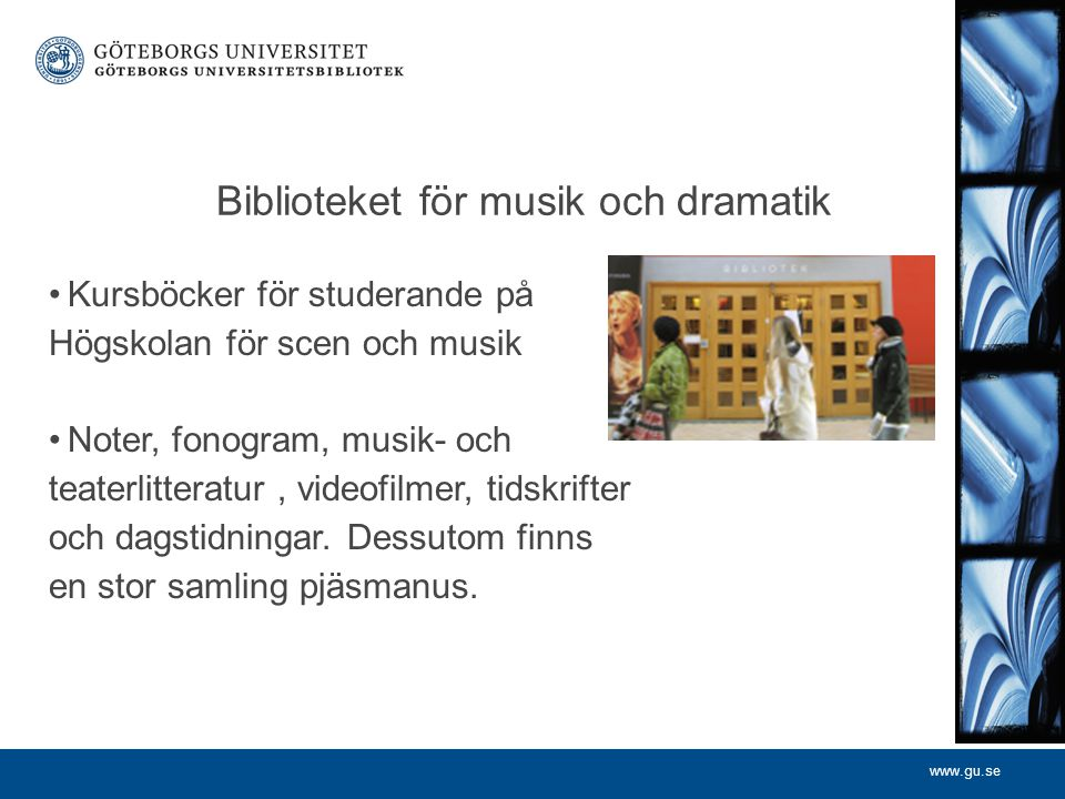 Biblioteket för musik och dramatik