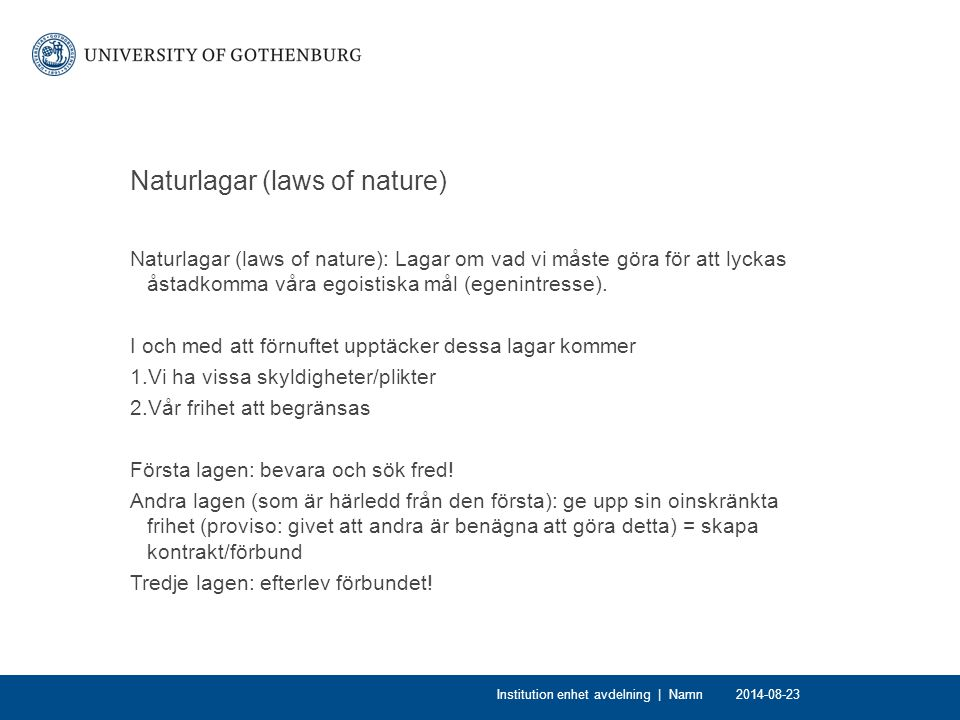 Naturlagar (laws of nature)