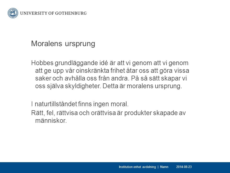 Moralens ursprung