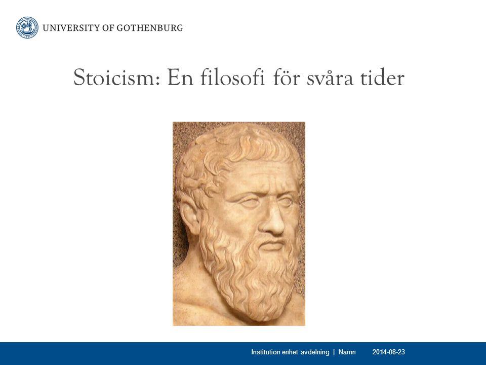 Stoicism: En filosofi för svåra tider