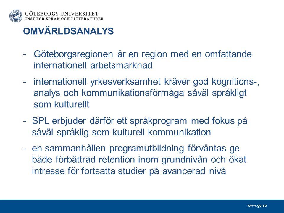 OMVÄRLDSANALYS Göteborgsregionen är en region med en omfattande internationell arbetsmarknad.