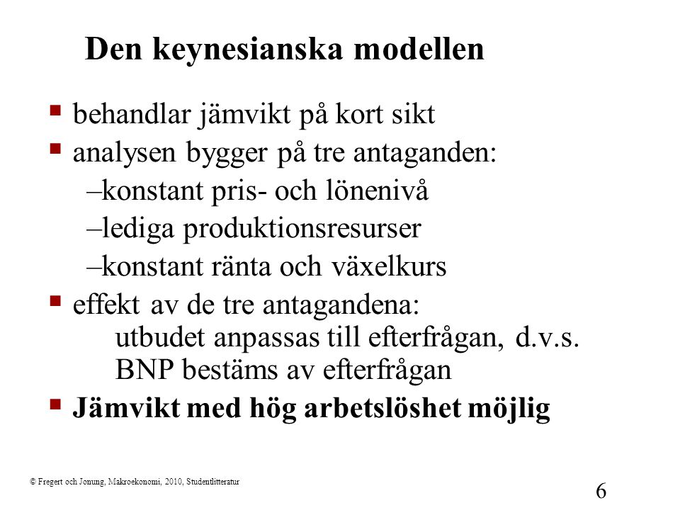 Den keynesianska modellen