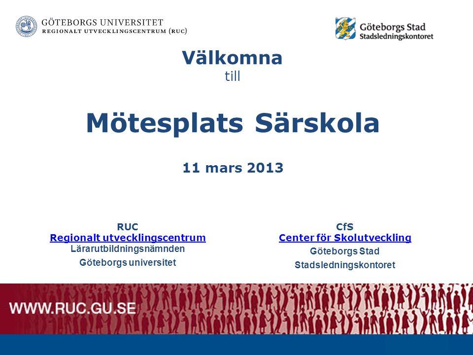 Välkomna till Mötesplats Särskola 11 mars 2013