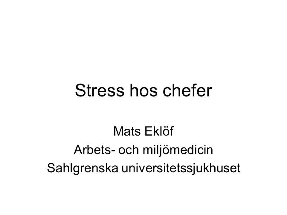 Mats Eklöf Arbets- och miljömedicin Sahlgrenska universitetssjukhuset