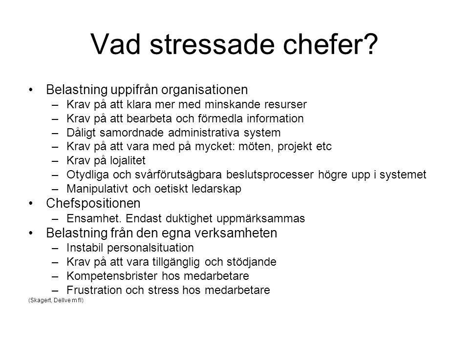 Vad stressade chefer Belastning uppifrån organisationen