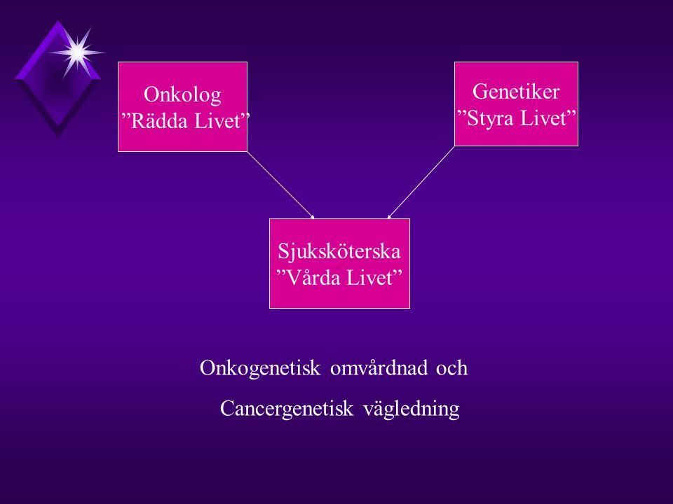 Onkogenetisk omvårdnad och Cancergenetisk vägledning