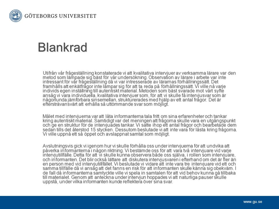Blankrad