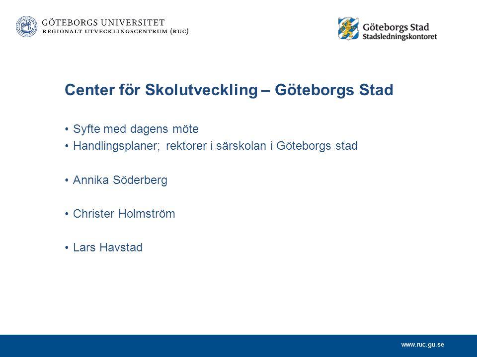 Center för Skolutveckling – Göteborgs Stad