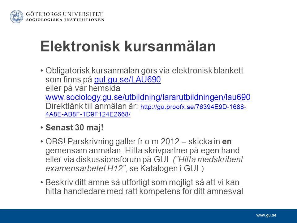 Elektronisk kursanmälan