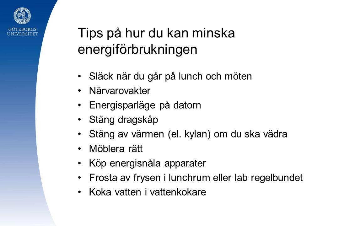 Tips på hur du kan minska energiförbrukningen