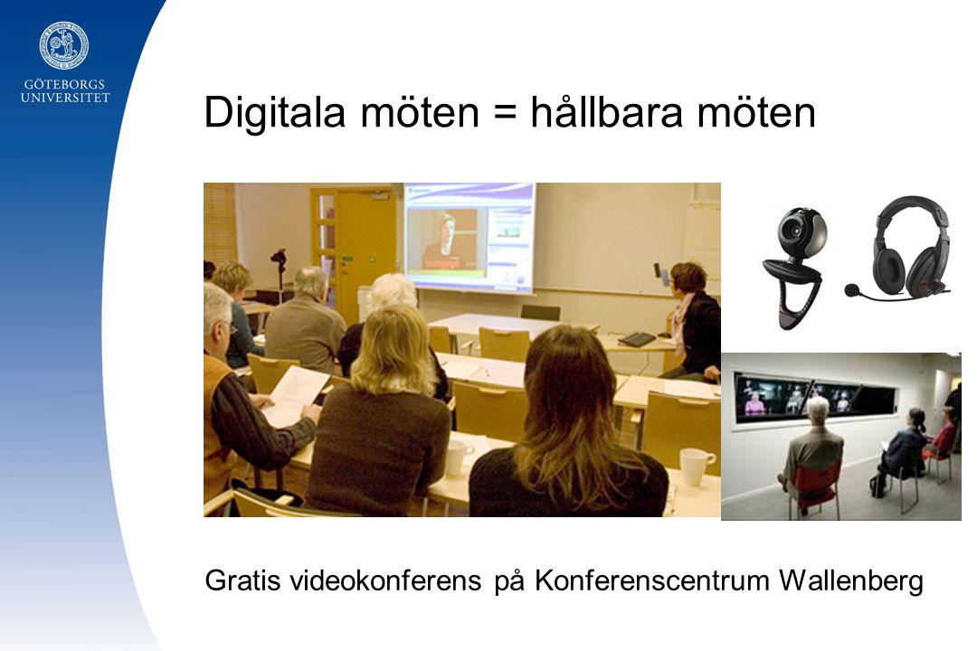 Digitala möten = hållbara möten