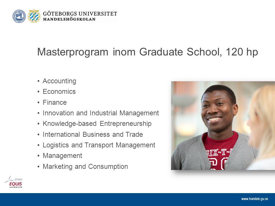 Masterprogram inom Graduate School, 120 hp