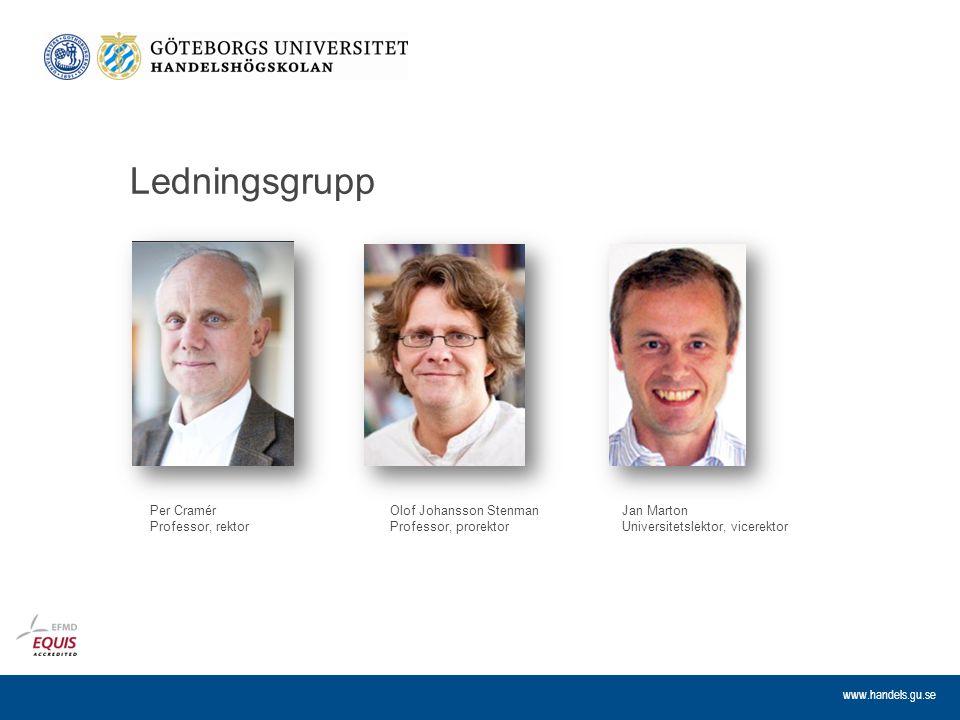 Ledningsgrupp Per Cramér Professor, rektor Olof Johansson Stenman