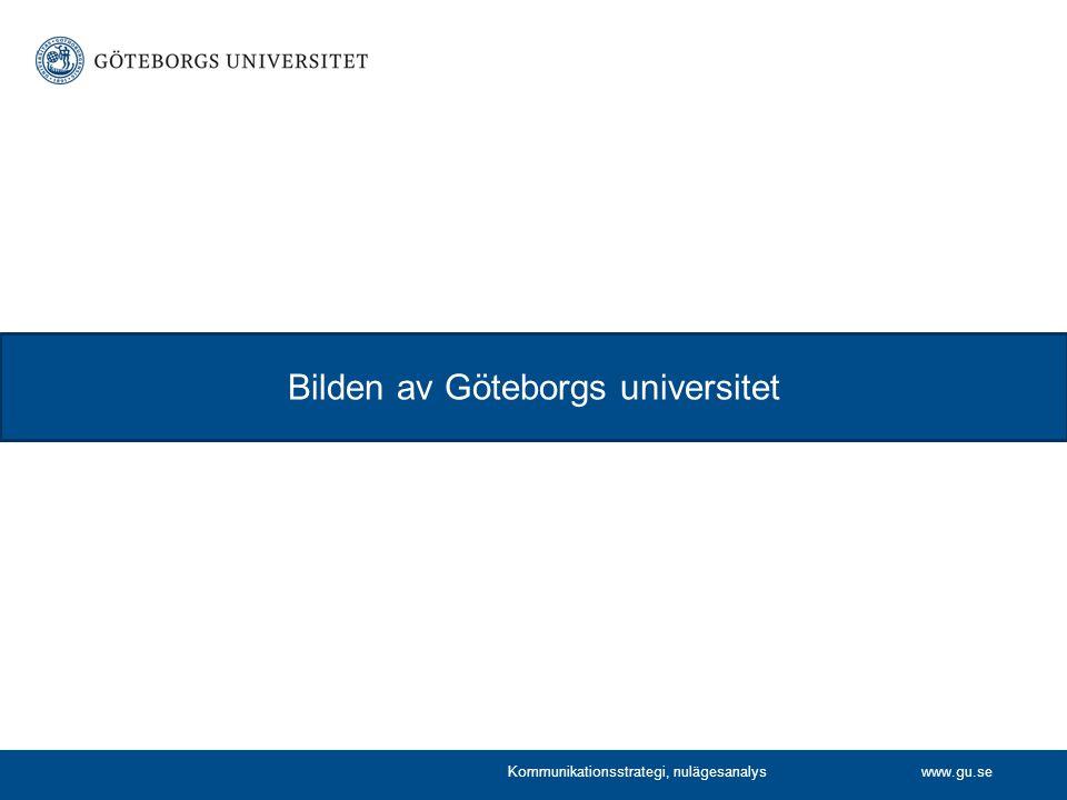 Bilden av Göteborgs universitet