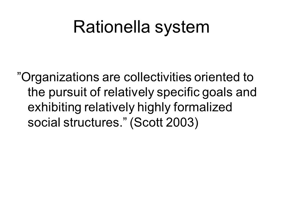 Rationella system