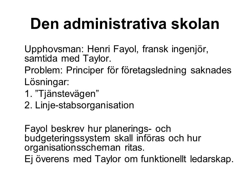 Den administrativa skolan