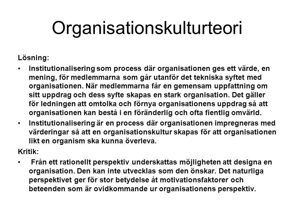 Organisationskulturteori