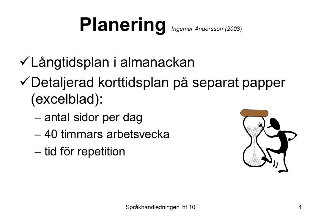 Planering Ingemar Andersson (2003)