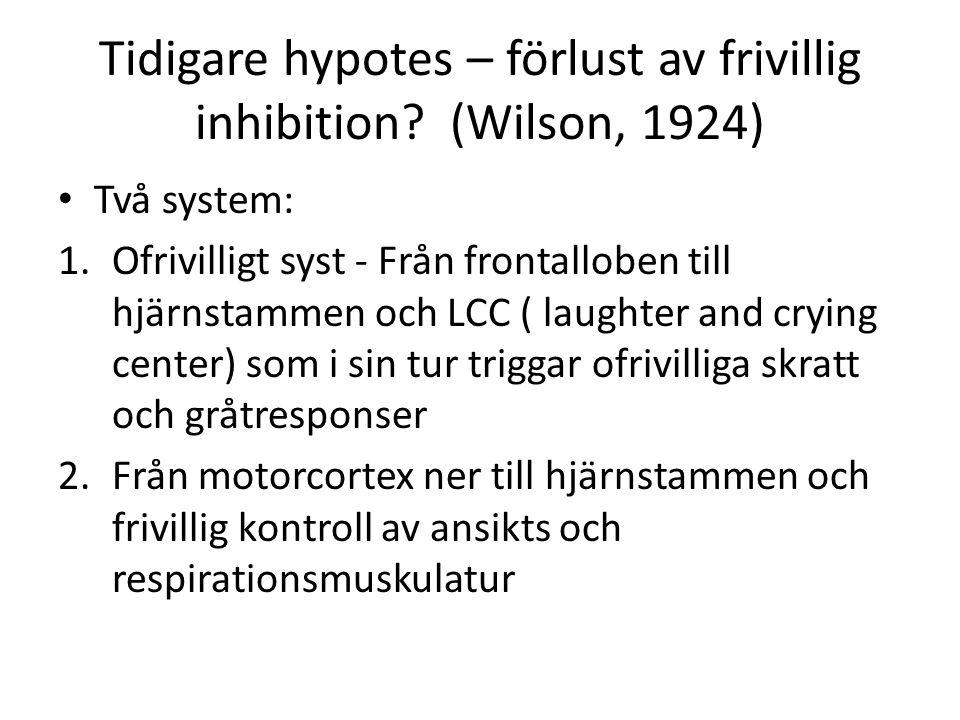 Tidigare hypotes – förlust av frivillig inhibition (Wilson, 1924)