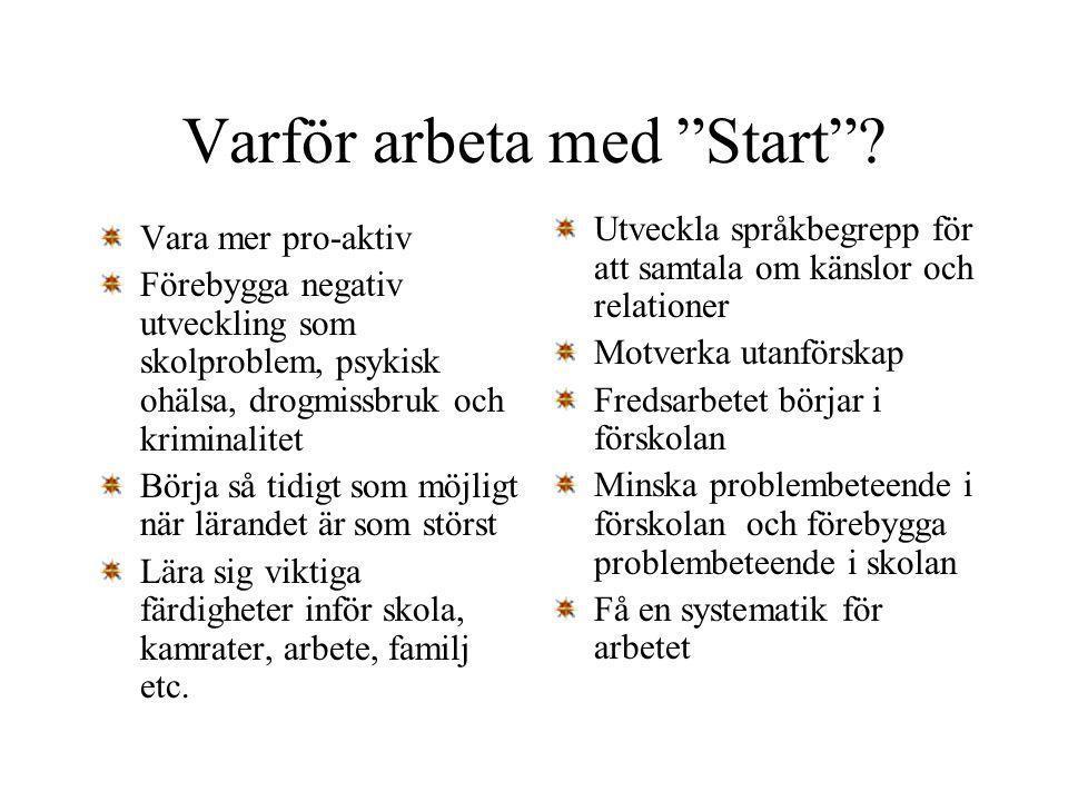 Varför arbeta med Start