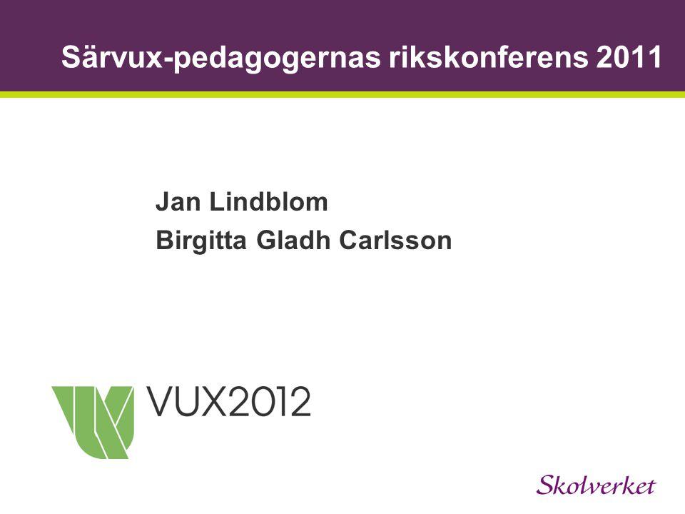 Särvux-pedagogernas rikskonferens 2011