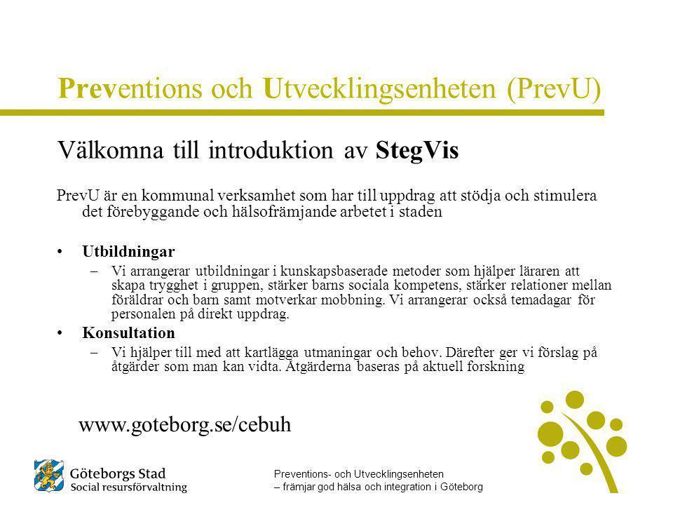 Preventions och Utvecklingsenheten (PrevU)