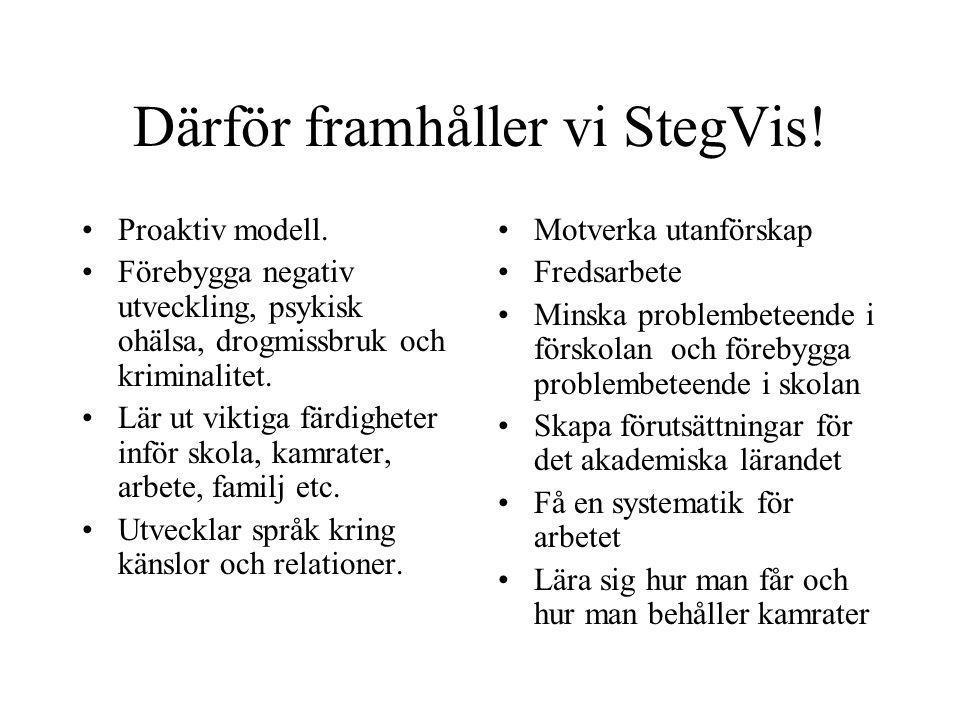Därför framhåller vi StegVis!