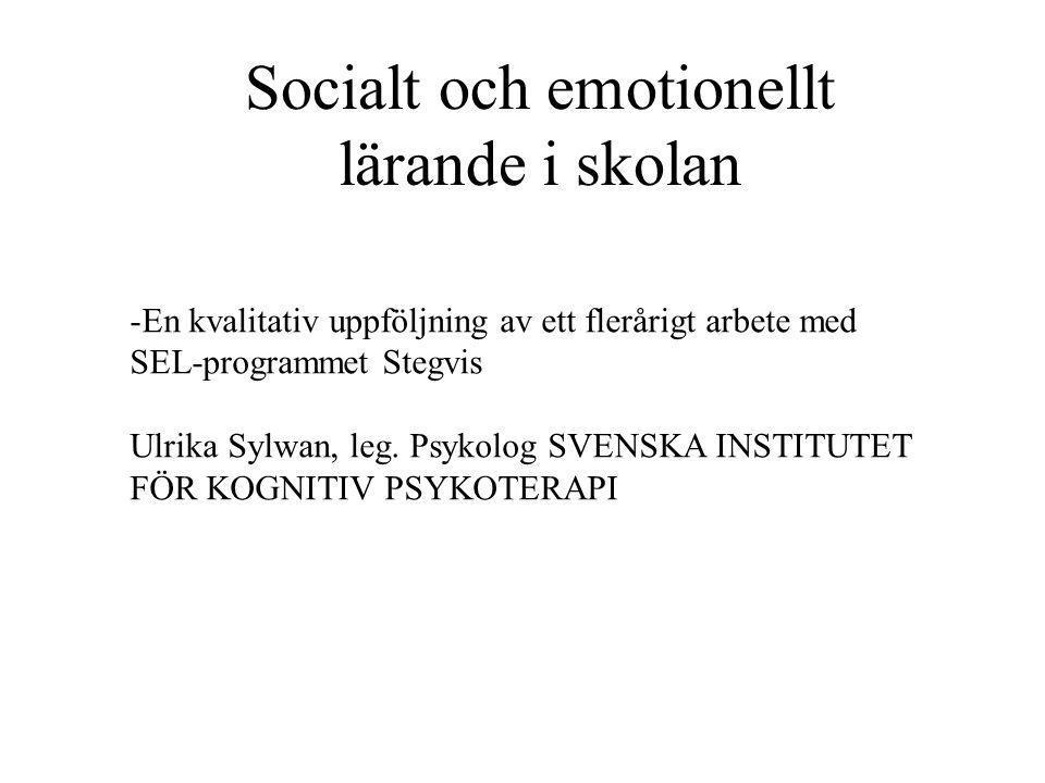 Socialt och emotionellt lärande i skolan