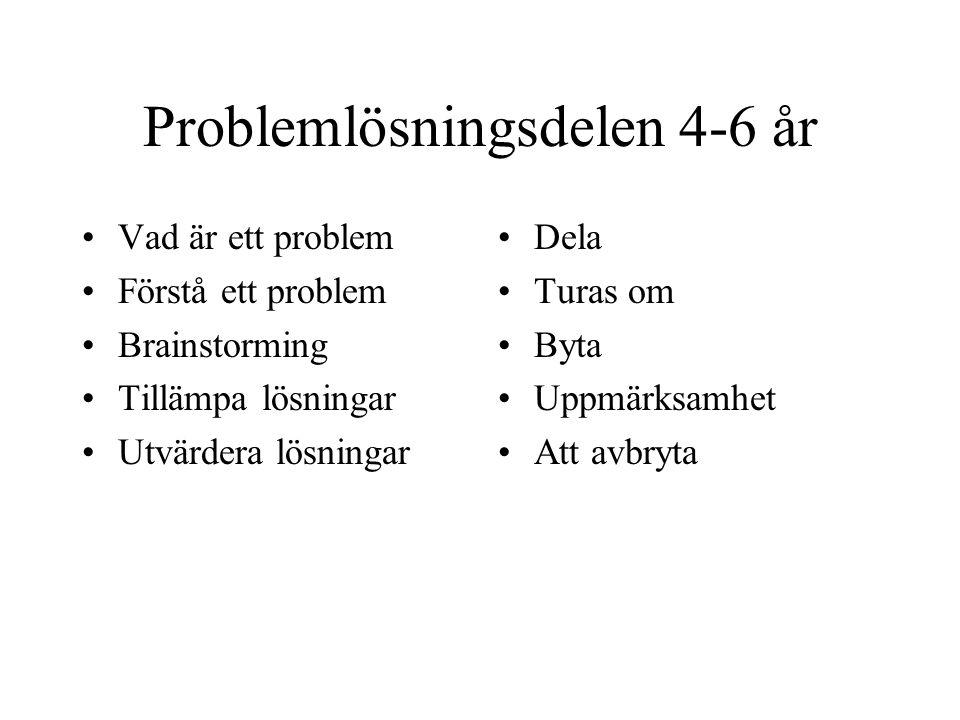 Problemlösningsdelen 4-6 år