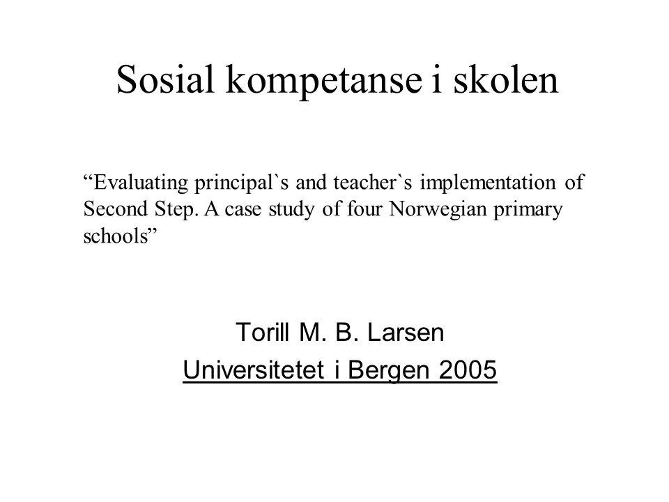 Sosial kompetanse i skolen