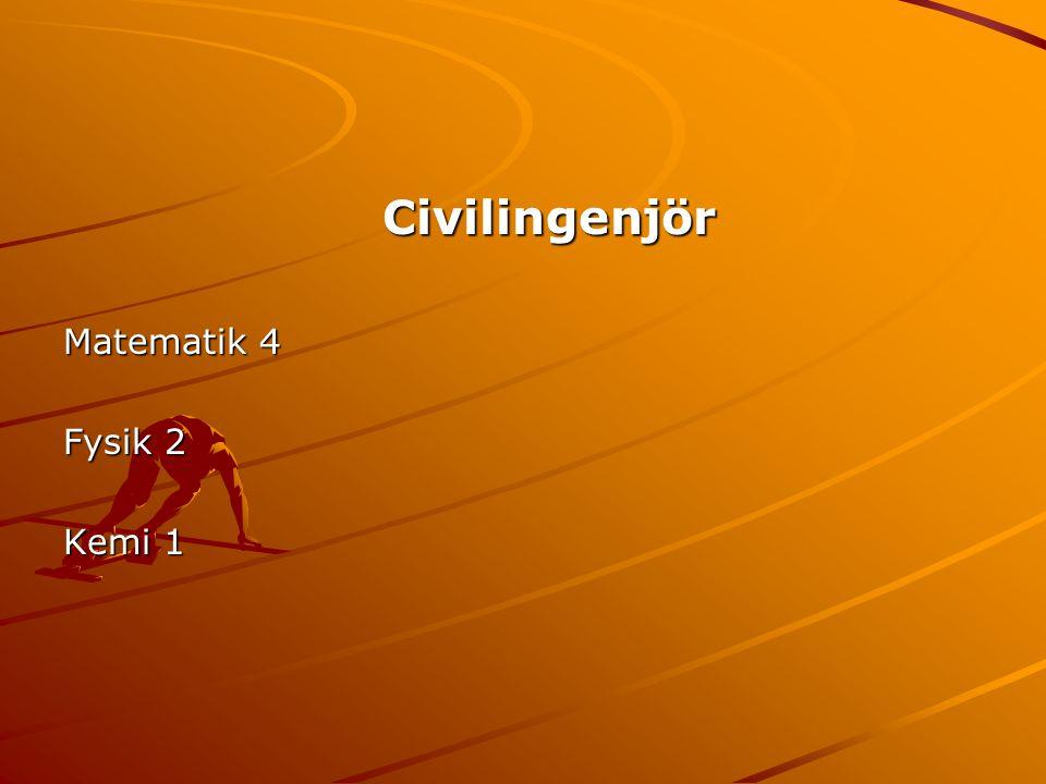 Civilingenjör Matematik 4 Fysik 2 Kemi 1