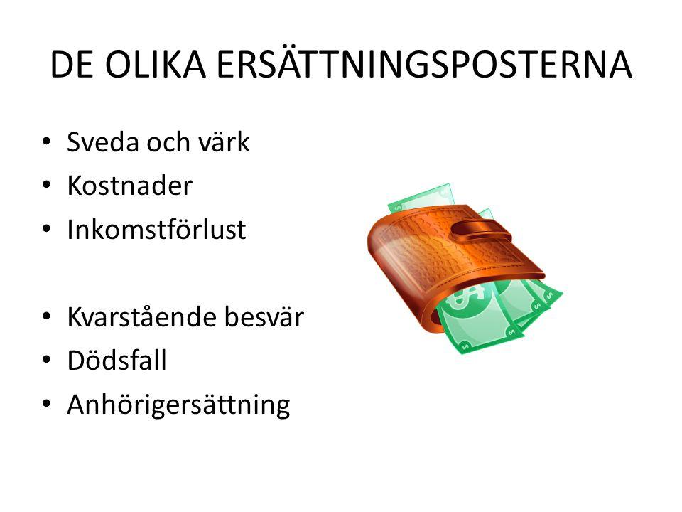 DE OLIKA ERSÄTTNINGSPOSTERNA