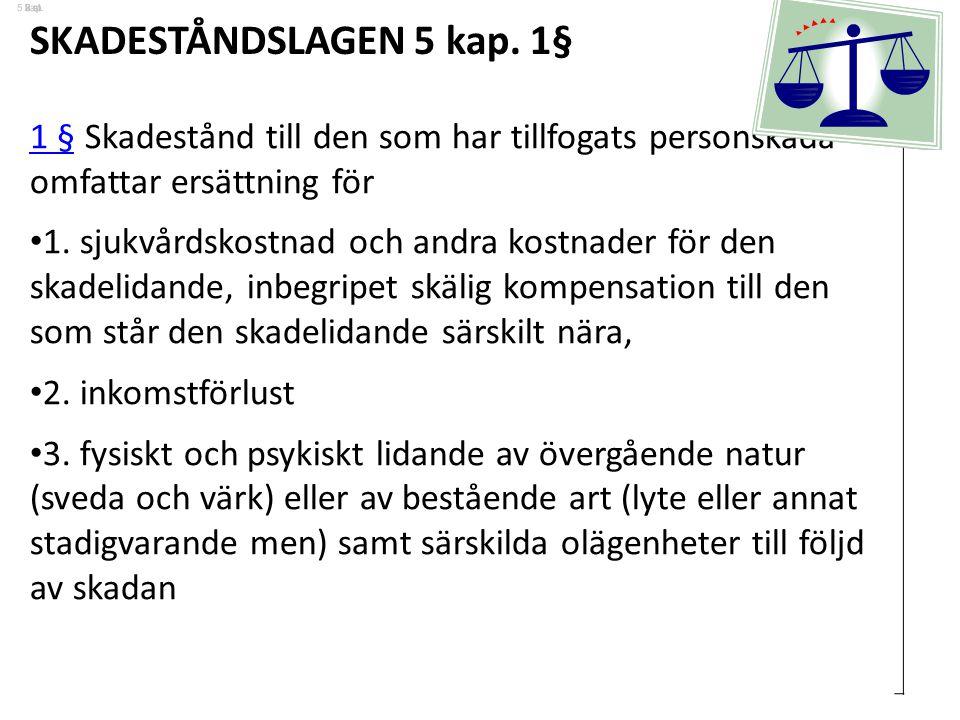 SKADESTÅNDSLAGEN 5 kap. 1§