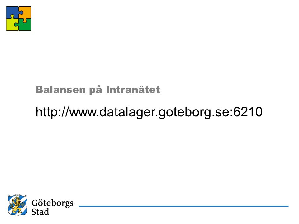 Balansen på Intranätet