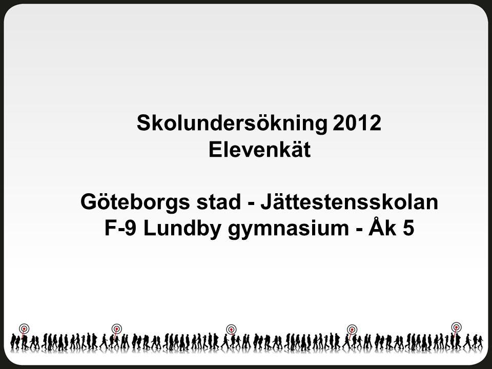Göteborgs stad - Jättestensskolan F-9 Lundby gymnasium - Åk 5