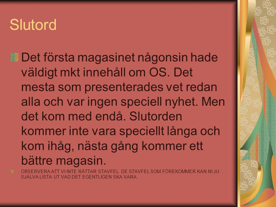 Slutord