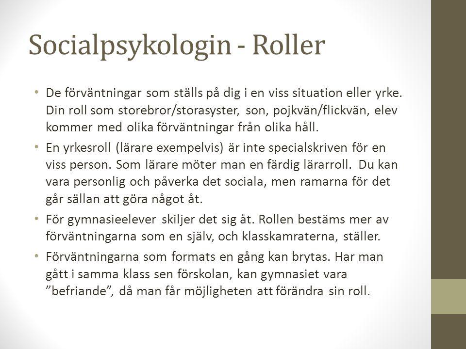 Socialpsykologin - Roller