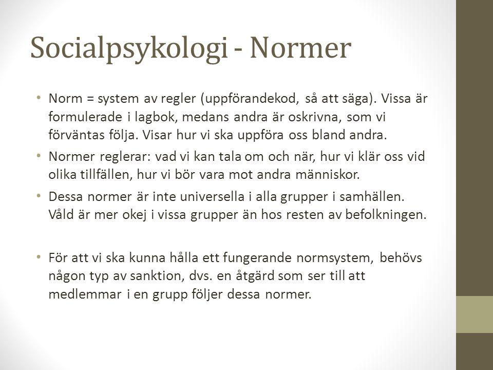 Socialpsykologi - Normer