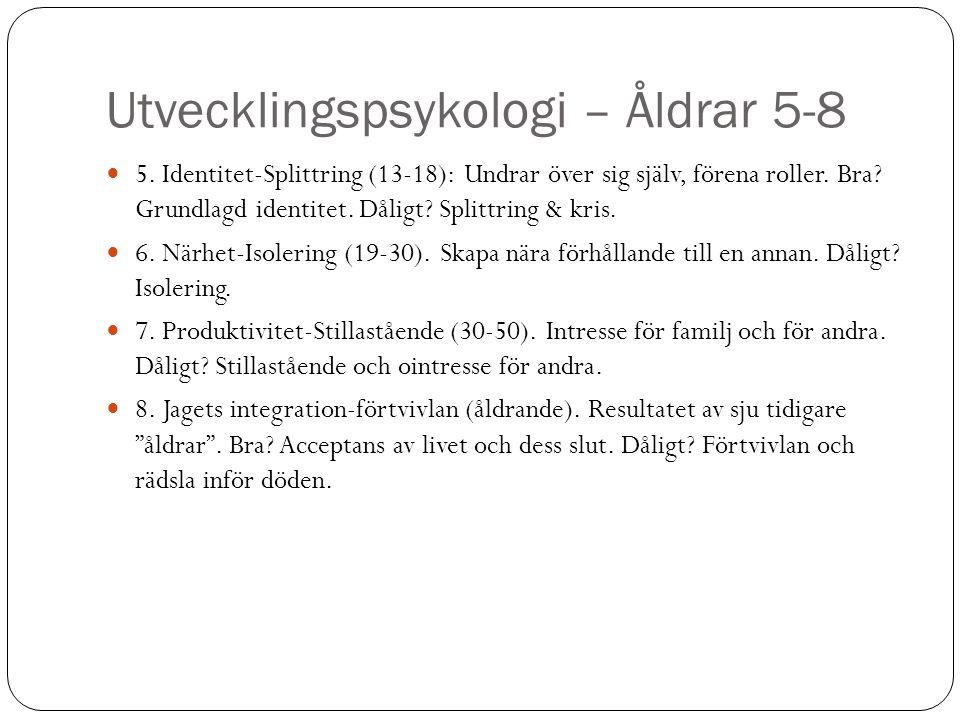 Utvecklingspsykologi – Åldrar 5-8