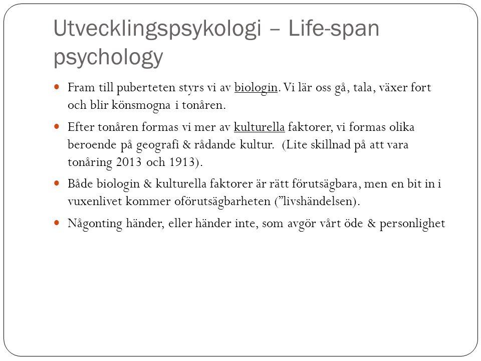 Utvecklingspsykologi – Life-span psychology