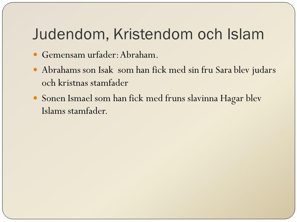 Judendom, Kristendom och Islam