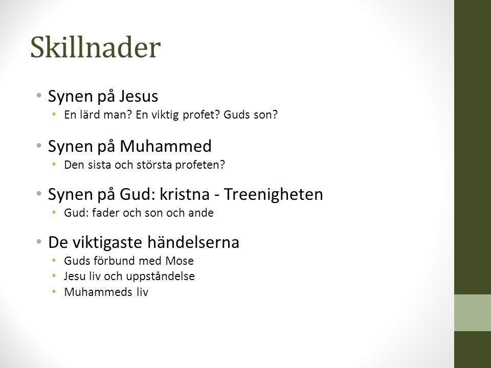 Skillnader Synen på Jesus Synen på Muhammed