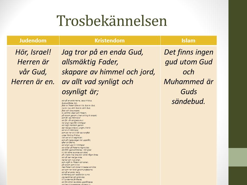 Det finns ingen gud utom Gud och Muhammed är Guds sändebud.