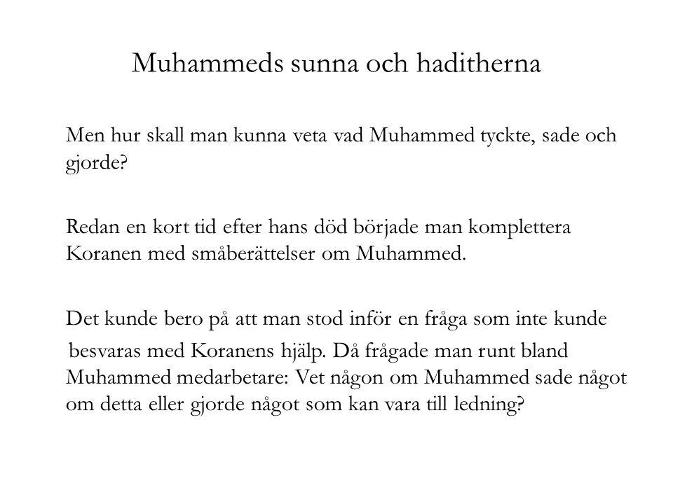 Muhammeds sunna och haditherna