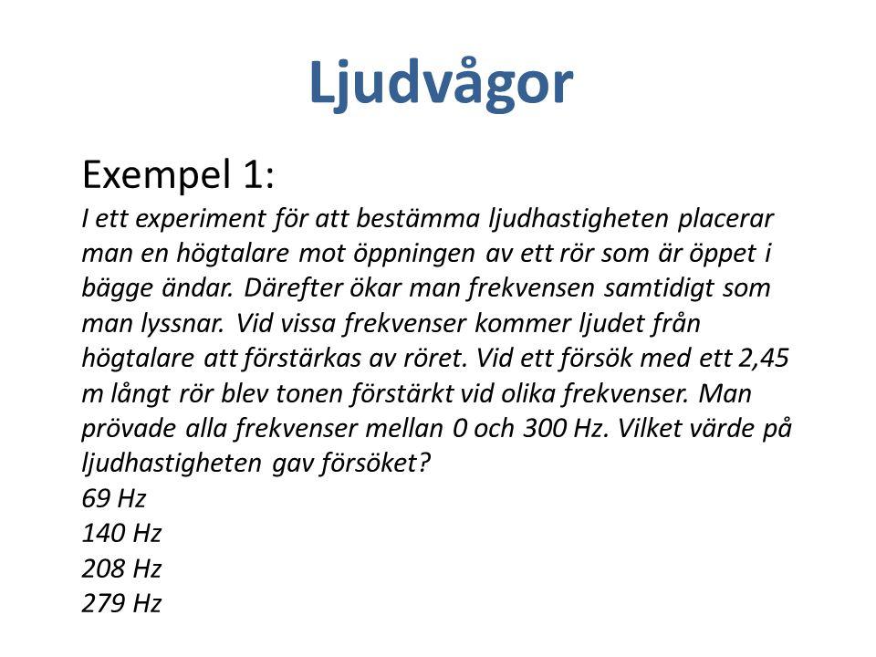Ljudvågor Exempel 1: