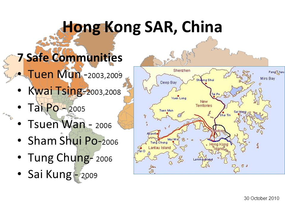 Hong Kong SAR, China 7 Safe Communities Tuen Mun -2003,2009