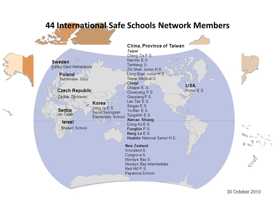 44 International Safe Schools Network Members