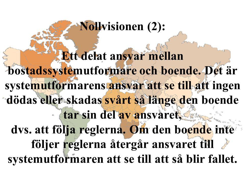 Nollvisionen (2): Ett delat ansvar mellan bostadssystemutformare och boende.