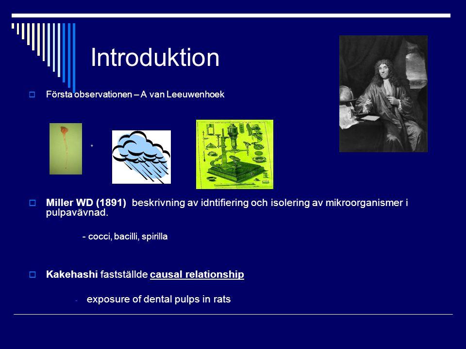 Introduktion Första observationen – A van Leeuwenhoek. + +